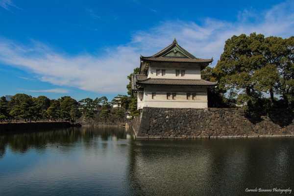 Nei dintorni dei giardini imperiali di Tokyo